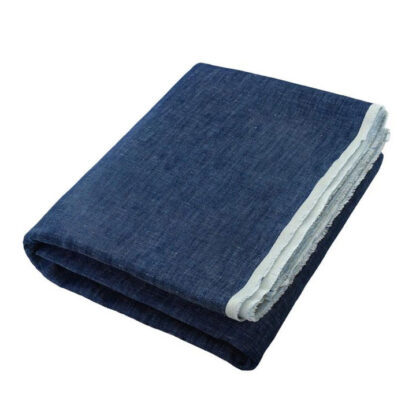 linen deck towel dark blue